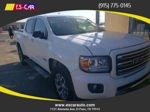 2017 GMC Canyon for sale at Escar Auto in El Paso TX