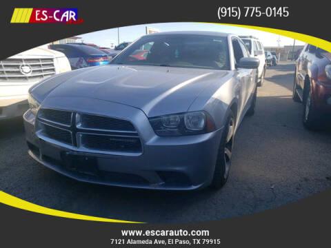 2014 Dodge Charger for sale at Escar Auto in El Paso TX