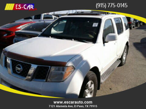 2006 Nissan Pathfinder for sale at Escar Auto in El Paso TX