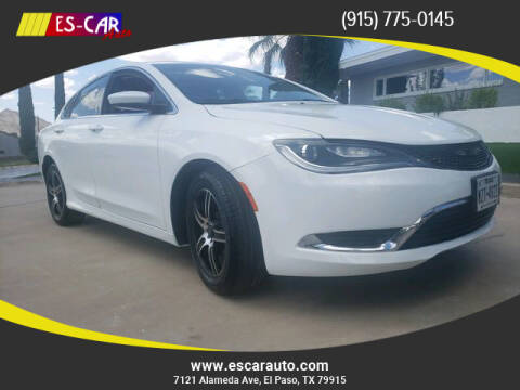 2015 Chrysler 200 for sale at Escar Auto - 9809 Montana Ave Lot in El Paso TX