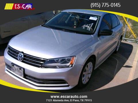 2015 Volkswagen Jetta for sale at Escar Auto in El Paso TX