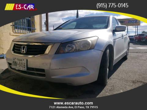 2010 Honda Accord for sale at Escar Auto in El Paso TX