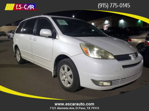 2004 Toyota Sienna for sale at Escar Auto in El Paso TX