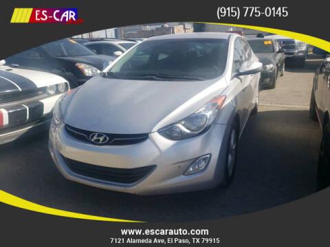 2013 Hyundai Elantra for sale at Escar Auto in El Paso TX