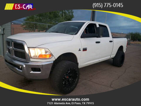 2012 RAM Ram Pickup 2500 for sale at Escar Auto in El Paso TX