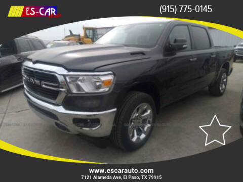 2019 RAM Ram Pickup 1500 for sale at Escar Auto in El Paso TX
