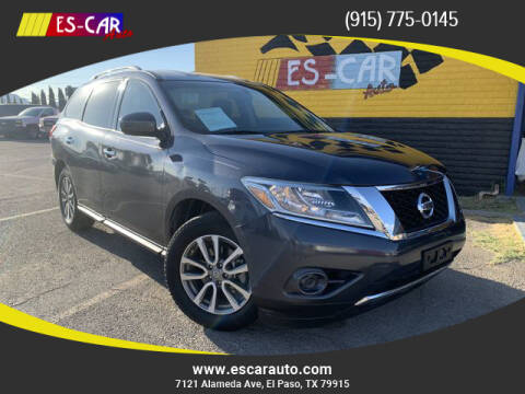2014 Nissan Pathfinder for sale at Escar Auto - 9809 Montana Ave Lot in El Paso TX