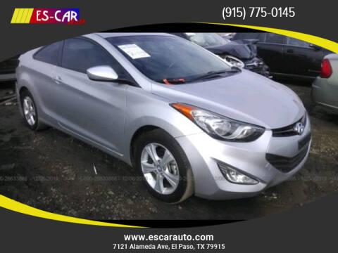 2013 Hyundai Elantra Coupe for sale at Escar Auto - 9809 Montana Ave Lot in El Paso TX