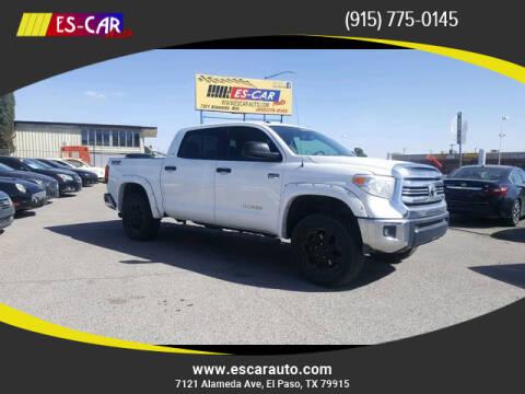2016 Toyota Tundra for sale at Escar Auto in El Paso TX