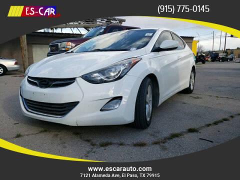 2013 Hyundai Elantra for sale at Escar Auto - 9809 Montana Ave Lot in El Paso TX