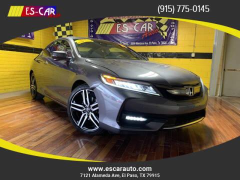 2016 Honda Accord for sale at Escar Auto - 9809 Montana Ave Lot in El Paso TX