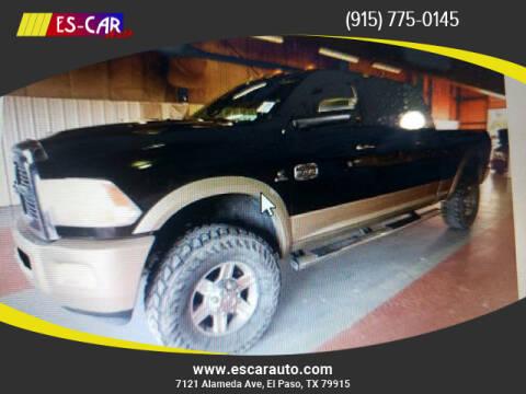 2011 RAM Ram Pickup 2500 for sale at Escar Auto in El Paso TX