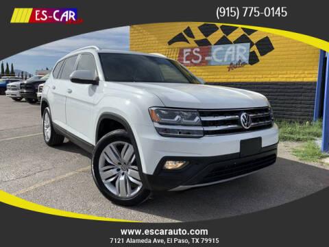 2019 Volkswagen Atlas for sale at Escar Auto in El Paso TX