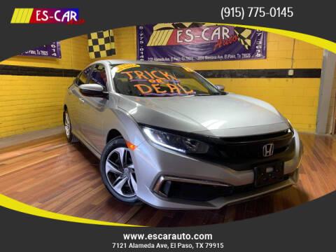 2019 Honda Civic for sale at Escar Auto - 9809 Montana Ave Lot in El Paso TX