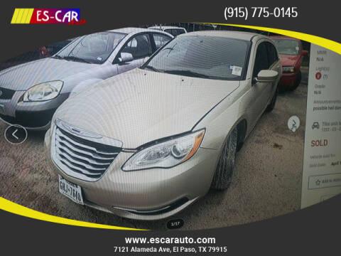 2014 Chrysler 200 for sale at Escar Auto in El Paso TX