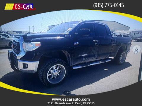 2014 Toyota Tundra for sale at Escar Auto in El Paso TX