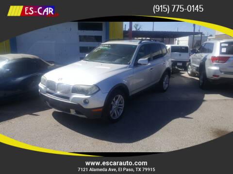 2007 BMW X3 for sale at Escar Auto in El Paso TX