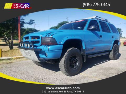 1999 Dodge Durango for sale at Escar Auto in El Paso TX