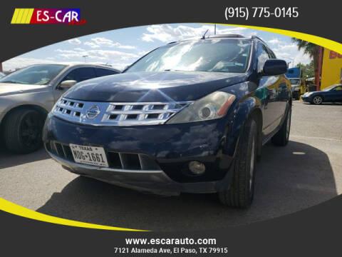 2005 Nissan Murano for sale at Escar Auto in El Paso TX