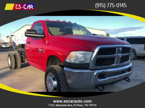 2012 RAM Ram Chassis 5500 for sale at Escar Auto in El Paso TX