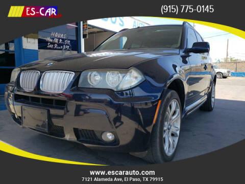 2009 BMW X3 for sale at Escar Auto in El Paso TX