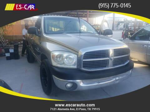 2007 Dodge Ram Pickup 1500 for sale at Escar Auto in El Paso TX