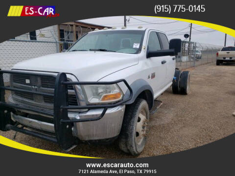 2011 RAM Ram Chassis 5500 for sale at Escar Auto in El Paso TX
