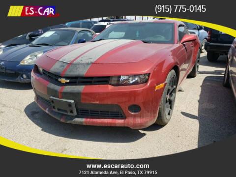 2014 Chevrolet Camaro for sale at Escar Auto in El Paso TX