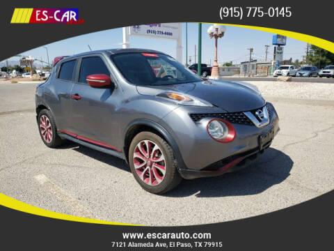 2015 Nissan JUKE for sale at Escar Auto in El Paso TX