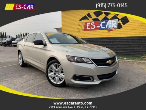 2015 Chevrolet Impala for sale at Escar Auto - 9809 Montana Ave Lot in El Paso TX