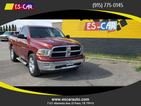 2012 RAM Ram Pickup 1500 for sale at Escar Auto - 9809 Montana Ave Lot in El Paso TX