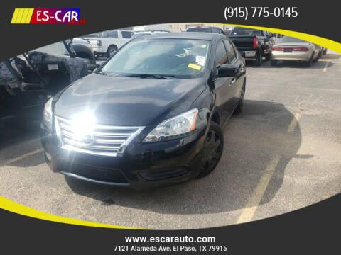 2013 Nissan Sentra for sale at Escar Auto in El Paso TX