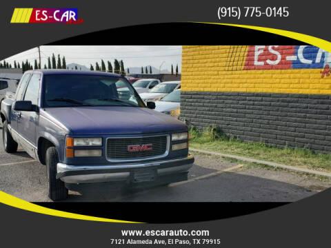 1996 GMC Sierra 1500 for sale at Escar Auto in El Paso TX