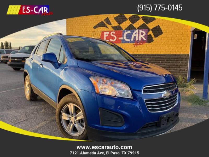 2016 Chevrolet Trax for sale at Escar Auto - 9809 Montana Ave Lot in El Paso TX