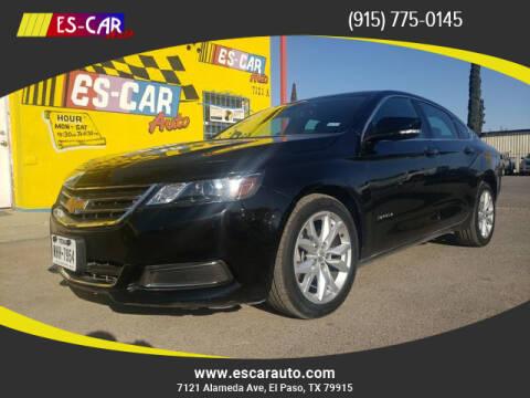 2017 Chevrolet Impala for sale at Escar Auto in El Paso TX