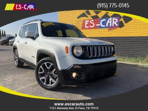 2015 Jeep Renegade for sale at Escar Auto in El Paso TX