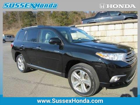 2012 Toyota Highlander for sale in Newton NJ