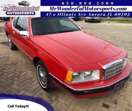 1986 Mercury Cougar for sale at Mr Wonderful Motorsports in Aurora IL