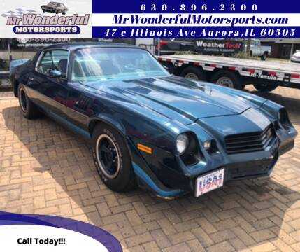 1979 Chevrolet Camaro for sale at Mr Wonderful Motorsports - Muscle Cars in Aurora IL