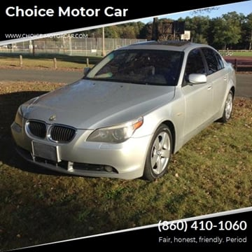 2007 BMW 5 Series 530xi for sale at Choice Motor Car in Plainville CT