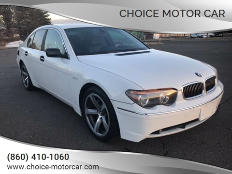 2004 BMW 7 Series 745i for sale at Choice Motor Car in Plainville CT