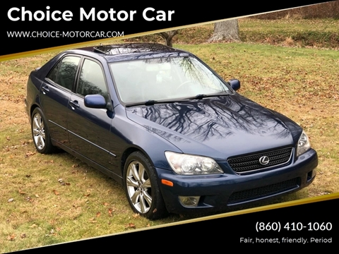 2004 Lexus IS 300 for sale at Choice Motor Car in Plainville CT
