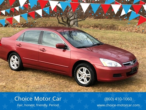 2007 Honda Accord for sale at Choice Motor Car in Plainville CT