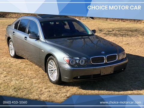 2005 BMW 7 Series for sale at Choice Motor Car in Plainville CT