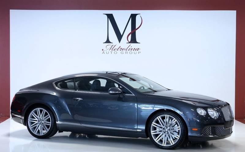 2013 Bentley Continental Gt Speed Awd 2dr Coupe In Charlotte Nc