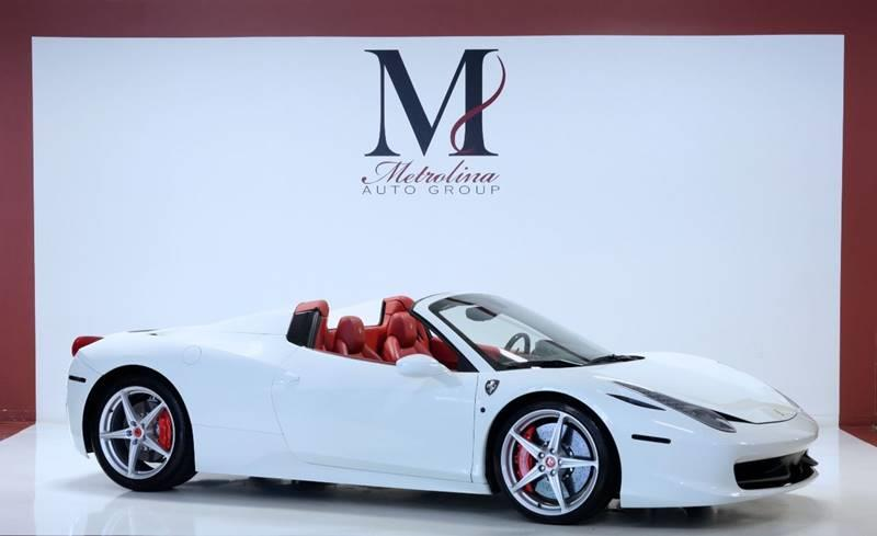 2014 Ferrari 458 Spider 2dr Convertible In Charlotte Nc Metrolina