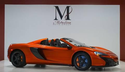 2015 McLaren 650S Spider for sale in Charlotte, NC