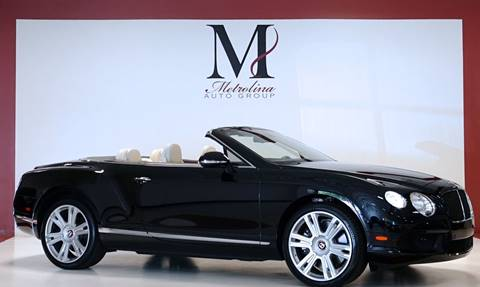 2013 Bentley Continental GTC V8 for sale in Charlotte, NC