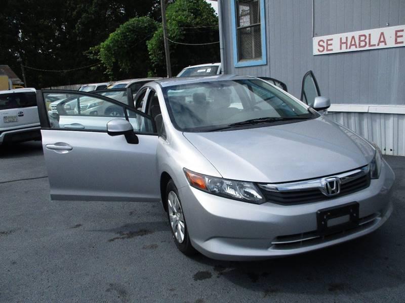 2012 Honda Civic LX 4dr Sedan 5A   Concord NC