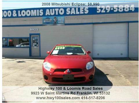 2008 Mitsubishi Eclipse for sale at Highway 100 & Loomis Road Sales in Franklin WI